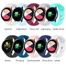 Sport silicone Strap For Samsung galaxy watch band Gear Galaxy Watch 42mm 20mm watch band Gear S2 correa wrist bracelet belt цена 2017