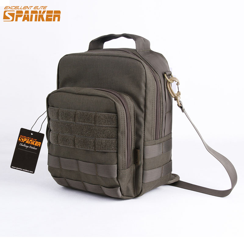 220f2827509e EXCELLENT ELITE SPANKER Outdoor Tactical Molle Shoulder Bags Hunting EDC  Nylon Waterproof Briefcase Military Style Messenger Bag