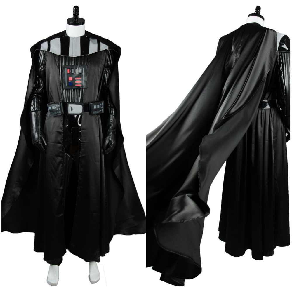Tailored Star Wars Cosplay Darth Vader Costume Props Mask PVC Adult Men Halloween Party Anakin Skywalker Cosplay Jumpsuit Mask