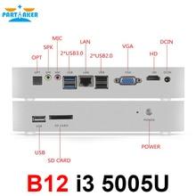 Безвентиляторный Barebone i3 Мини-ПК Win10 3 года гарантии NUC компьютер Intel Core i3 5005U 4 К HTPC ТВ коробка DHL Бесплатная доставка