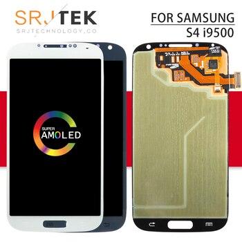 d1f4241d6fa AMOLED/IPS para Samsung Galaxy S4 I9500 digitalizador de pantalla táctil LCD  Sensor de la Asamblea No marco para Galaxy S4 i9505 pantalla