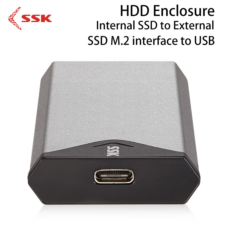 SSK HDD Enclosure M.2 NGFF To 3.1 USB Internal SSD to External Hard Drive Disk Case SHE-C320 Hard Disk Box for Computer D ugreen hdd enclosure sata to usb 3 0 hdd case tool free for 7 9 5mm 2 5 inch sata ssd up to 6tb hard disk box external hdd case