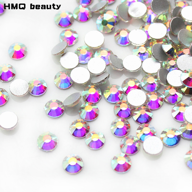 Topkwaliteit 1440 stks Clear AB Nail Art Steentjes Voor Nagels 3D Manicure Decoratie Glanzende Niet Hotfix Plaksteen Crystal