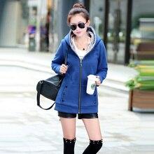Hot sale!2016 Women Sportswear Coat Hooded Warm Jackets Plus Size Spring Autumn Jackets Women Casual Hoodies Coat Cotton M-3XL