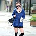 Venda quente! 2016 Mulheres Sportswear Casaco Com Capuz Quente Casacos Plus Size Primavera Outono Jaquetas Mulheres Casuais Hoodies Casaco de Algodão M-3XL