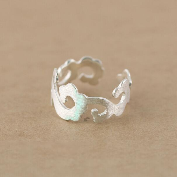925 sterling silver rings women style lucky cloud open
