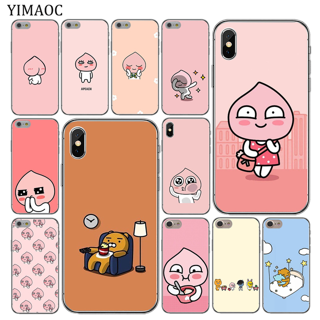 premium selection 7a586 f118c US $1.99 22% OFF|YIMAOC cartoon cocoa kakao friends apeach Soft Silicone  Phone Case for iPhone XS Max XR X 6 6S 7 8 Plus 5 5S SE 10 TPU Cover-in ...