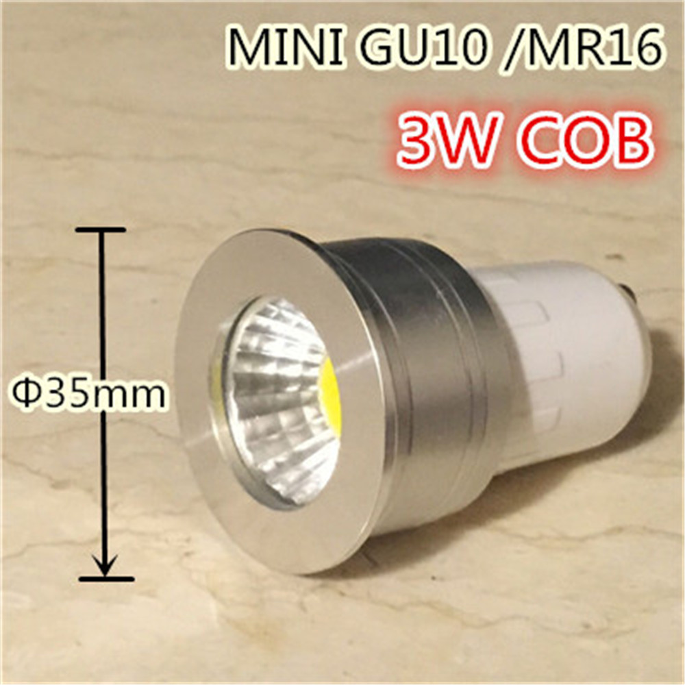 small lamp mini gu10 35mm spotlight 3w dimmable led bulb 220v 12v mr16 mr11 spot lamp for living. Black Bedroom Furniture Sets. Home Design Ideas