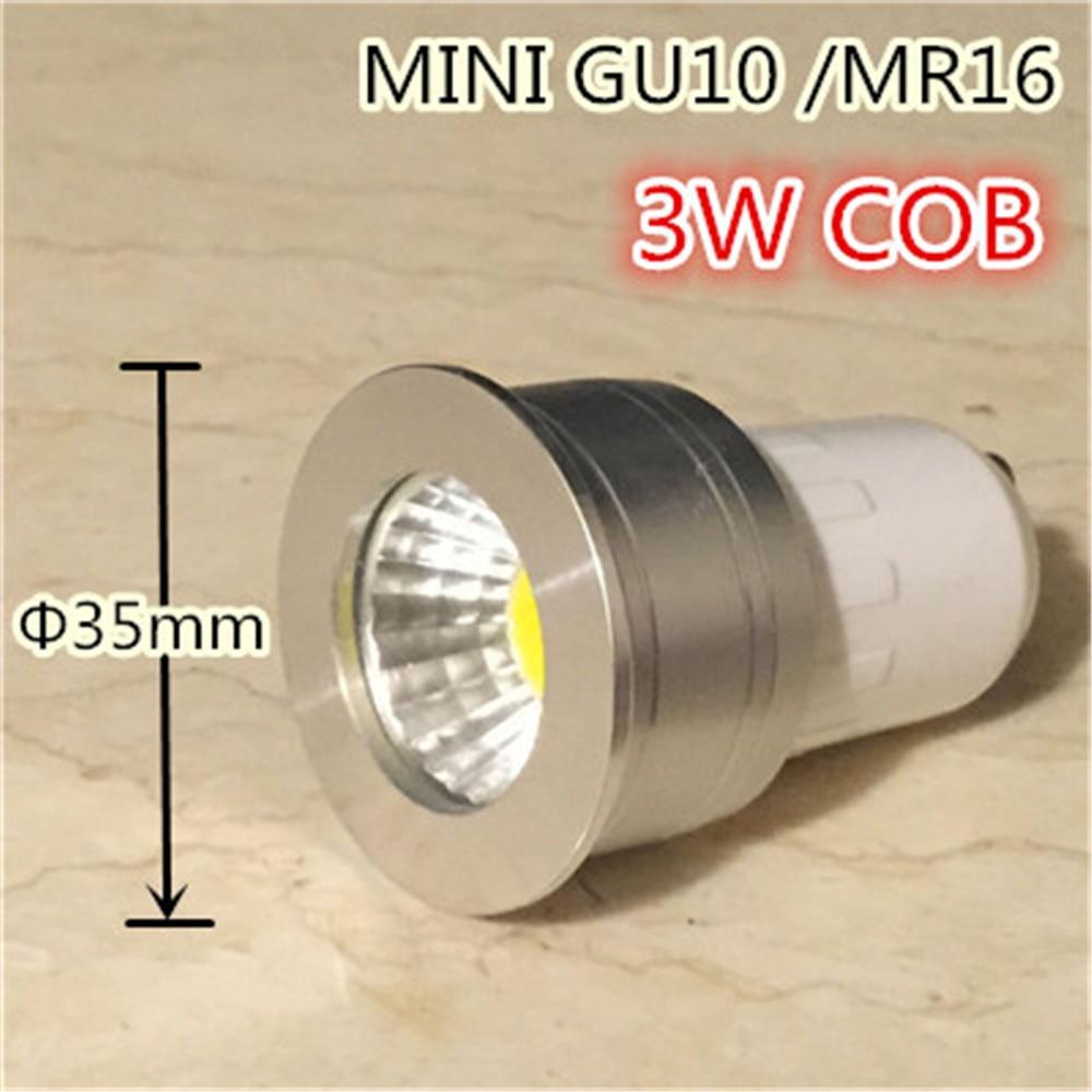 small lamp mini gu10 35mm spotlight 3w dimmable led bulb 220v 12v mr16 mr11 spot lamp for living room bedroom table lamp small