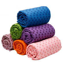 7 Color Microfiber Yoga Towels Eco friendly Non slip PVC Nubs Yoga Fitness Blankets Soft Gym