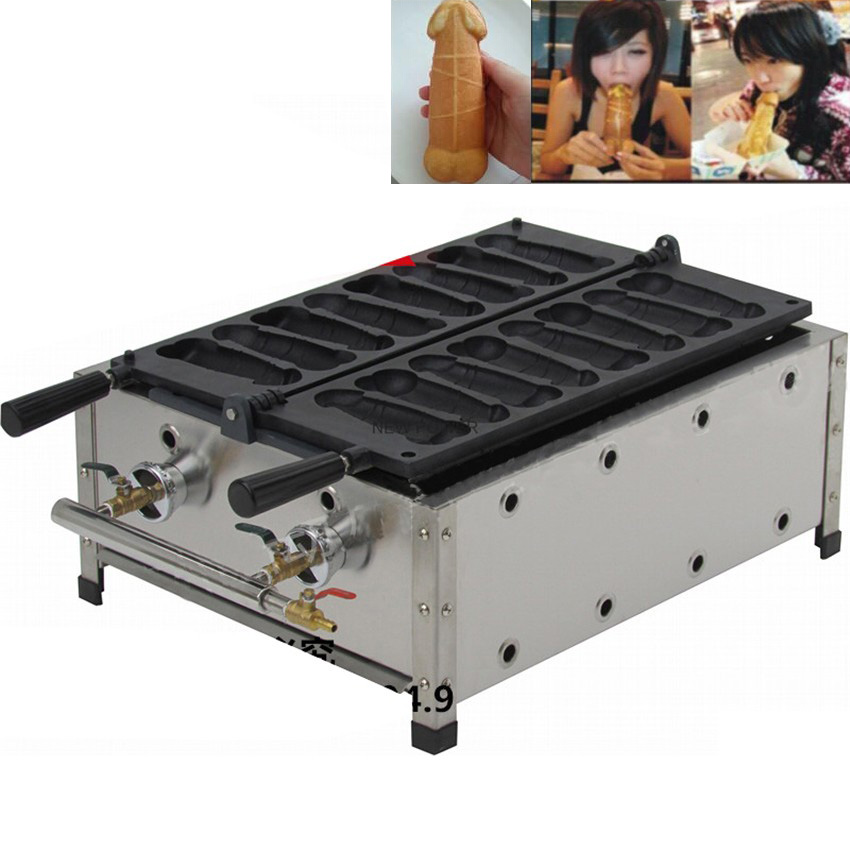 1pc NP-523 Commercial LPG Gas Penis Waffle Maker Iron Machine Baker