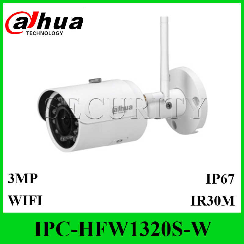 DaHua IPC HFW1320S W 3MP Mini Bullet IP Camera Support WIFI IP67 Waterproof Security Camera System