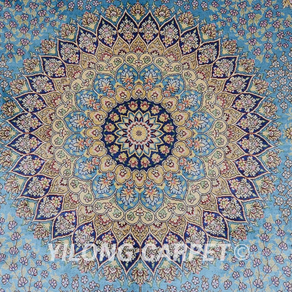 Yilong 6'x9 'Vantage ръчно заплетен син килим - Домашен текстил - Снимка 4