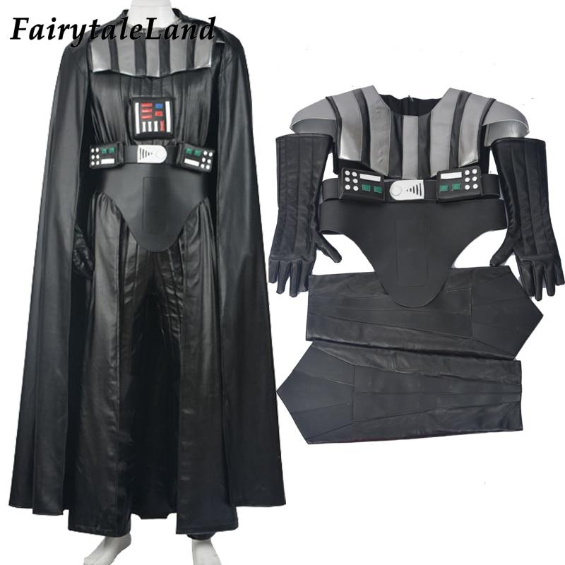 Star Wars Dark Vador cosplay costume adulte jedi costume ensemble complet fait sur commande Drath Vador costumes d'halloween