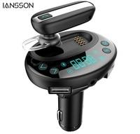 Wireless car Bluetooth FM Transmitter Sunsbell Wireless Radio Transmmitter with Bluetooth Headset Earphone In Car FM Adapter Car