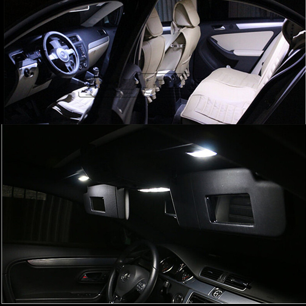 Canbus Error Free For Volkswagen VW GOLF 6 MK6 GTI LED Interior Light Kit Package 2010 Car Stying 8Pcs 2pcs new style 100% error free 15 smd 7440 w21w t20 led backup reverse light bulbs for 2010 2013 volkswagen mk6 golf or gti