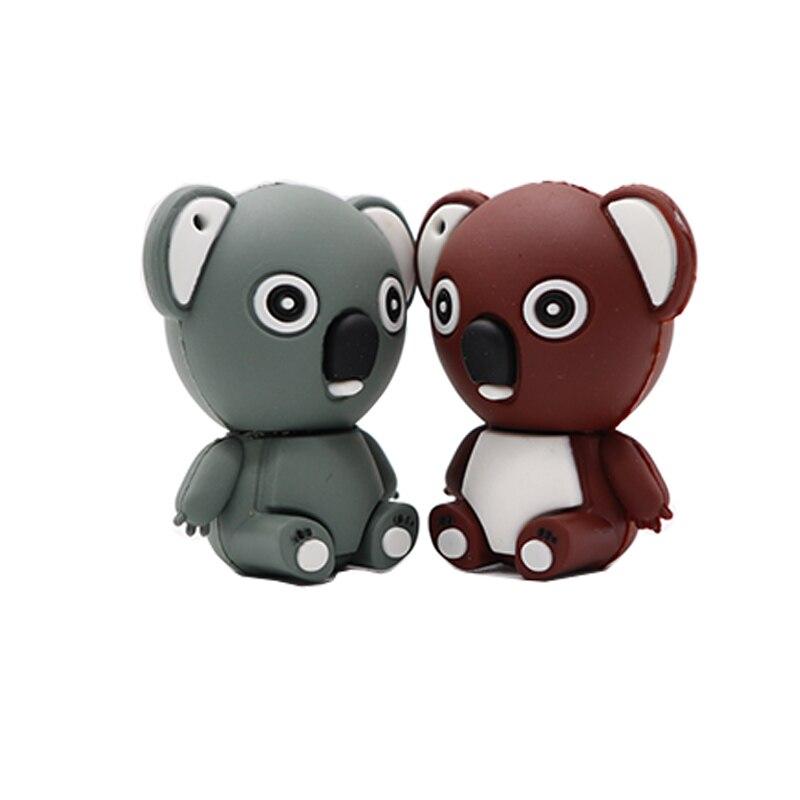 usb flash drive  dibujos Silicone Koala style pen drive 32GB 64GB 128GB flash disk  pen drive 64gb com frete gratis cle usb
