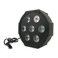 2015 7x 12W RGBW DMX Stage Lights Business Lights Led Flat Par High Power Light With