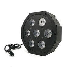 2018 LED Flat Par 7x 12W RGBW DMX Stage Lights Business Lights High Power Light with Professional for Party KTV Disco DJ