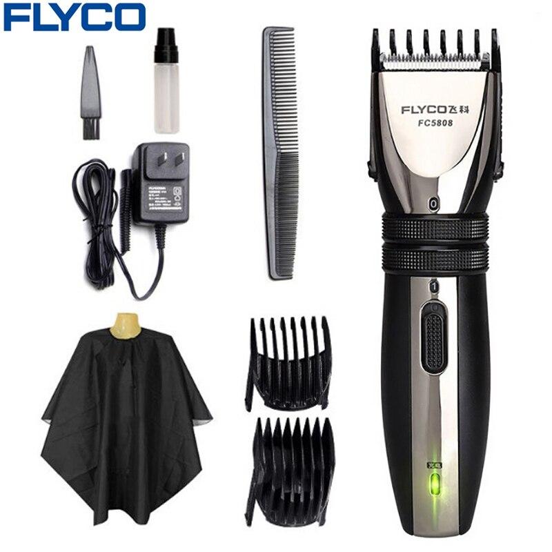 Flyco Électrique Professionnel Tondeuse À Cheveux pour adulte bébé Rechargeable Cheveux Tondeuses de Coupe De Cheveux Machine Barbes rasoir FC5808