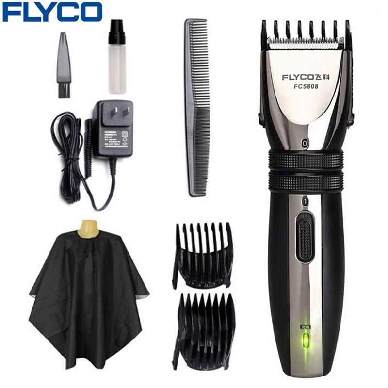 Flyco profesional cortapelos eléctrico para adultos bebé recargable cortar el pelo corte de pelo máquina barbas afeitadora FC5808
