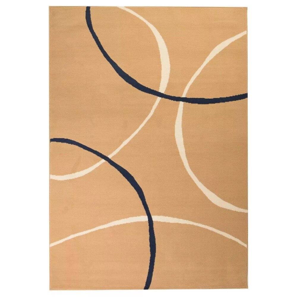 EHOMEBUY 2019 tapis nouveau tapis moderne Design cercle 80x150 cm marron Simple antidérapant tapis Style européen et américain
