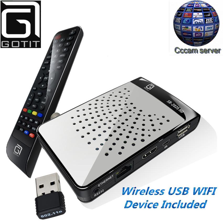 Prix pour MINI DVB-S2 SR2525HD Sunplus1507 Chipset H.265 Satellite récepteur avec 1 Année L'europe Compte CCcam Youporn Youtube Charge STB