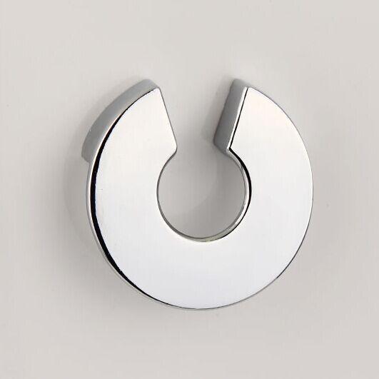 07ea0743c24b 32mm plata brillante Dresser tirador cajón manija cromada cocina gabinete  perilla muebles manijas de puerta