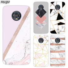 Marble Grain Silicone Hull Shell Back Case For Motorola MOTO G5 G5S G6 E4 E5 Plus G4 Play X4 Riverdale Cover Coque