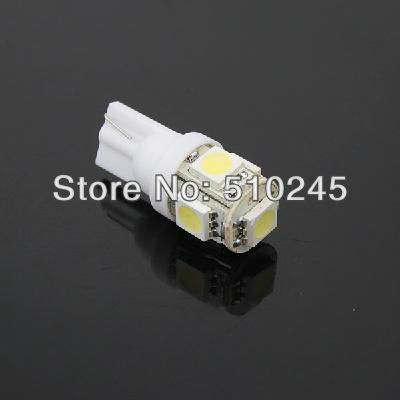1000X Car Auto LED T10 194 W5W 5 leds smd 5050 Wedge LED Light Bulb Lamp 5SMD White/Green/Blue/Red/Yellow