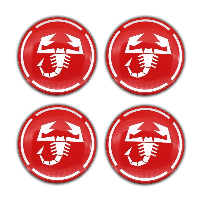 Купить 4 шт 56 мм алюминиевая наклейка на обод диска автомобиля скорпиона