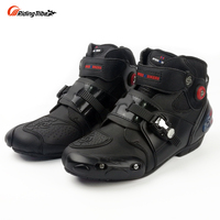 Riding Tribe Motorcycle Ankle Boot Racing Riding Shoes Men Motocross Riding Wear resistant Microfiber Leather Shoes Size 40 47
