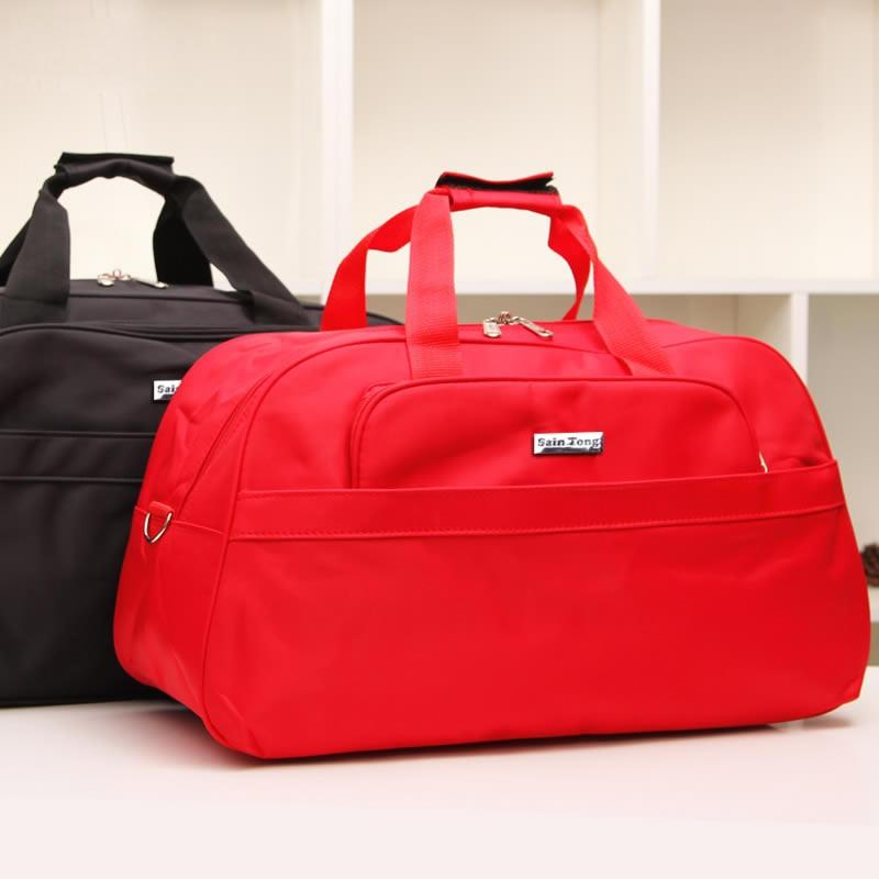 Women Travel Bags Solid Waterproof Nylon Handbag Men Large Capacity Travel Totes Bolsa Feminina Female Duffle Bags PT752