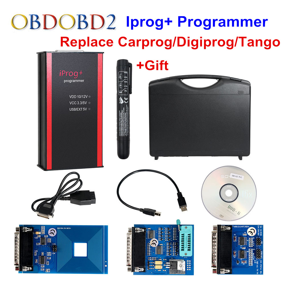 Newest Iprog Programmer Support IMMO Mileage Correction Airbag Reset Iprog Pro Till 2019 Replace Carprog Digiprog