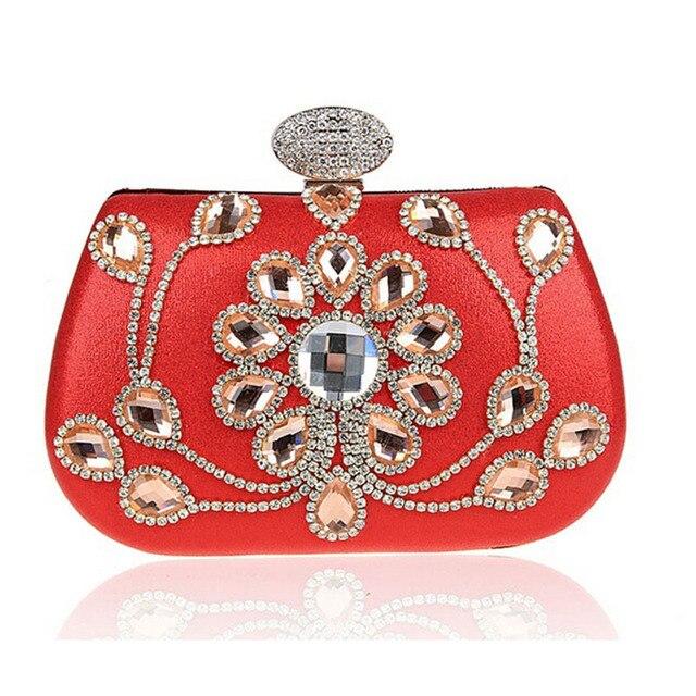 Hot Luxury Ladies Pearl Gold Clutch Fashion Women Crystal Rhinestone Evening Bag Designer Wedding Party Bag Bolsas mujer XA1015C
