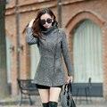 Nova Europa 2016 Outono Inverno das Mulheres Jaquetas Casacos de Lã Temperamento Feminino Das Mulheres Da Forma Roupas Casuais Casacos Finos Casacos