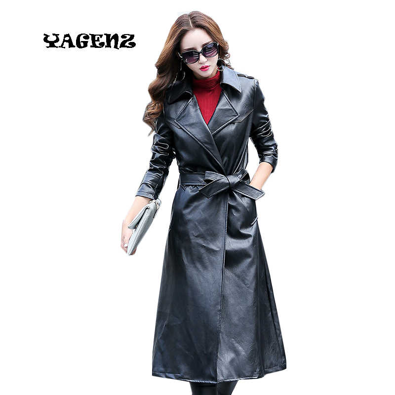 ec1ee38f7 Detail Feedback Questions about 2018 Autumn Black Leather Jacket ...