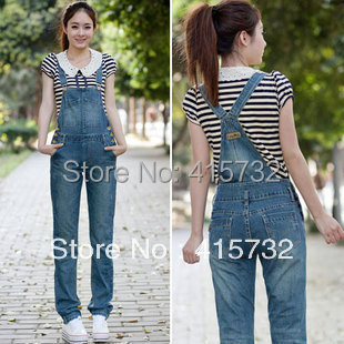 Free Shipping 2017 New Summer Denim Bib Pants Women Casual Denim Jumpsuits Trousers Ladies Rompers Jeans Blue Female Overalls стоимость