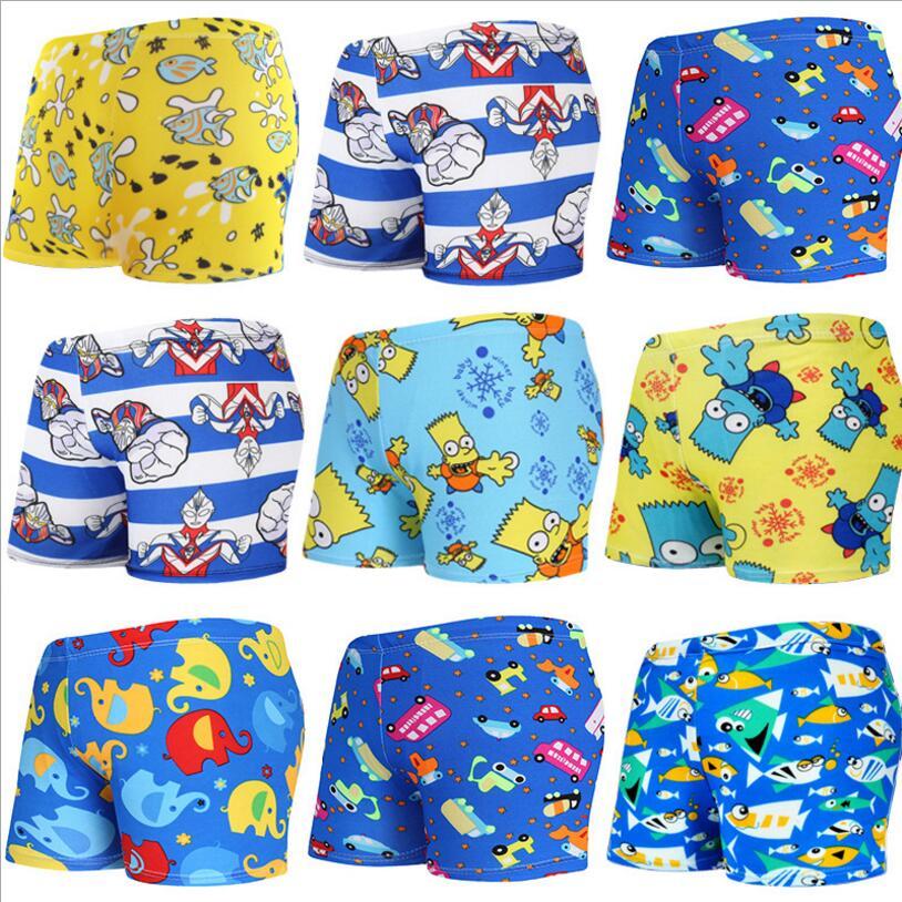 2pcs Kids Baby Boys Stretch Beach Swimsuit Swimwear Trunks Shorts+hat Set Fashion Swimsuit Kids Boy Harmonious Colors Home