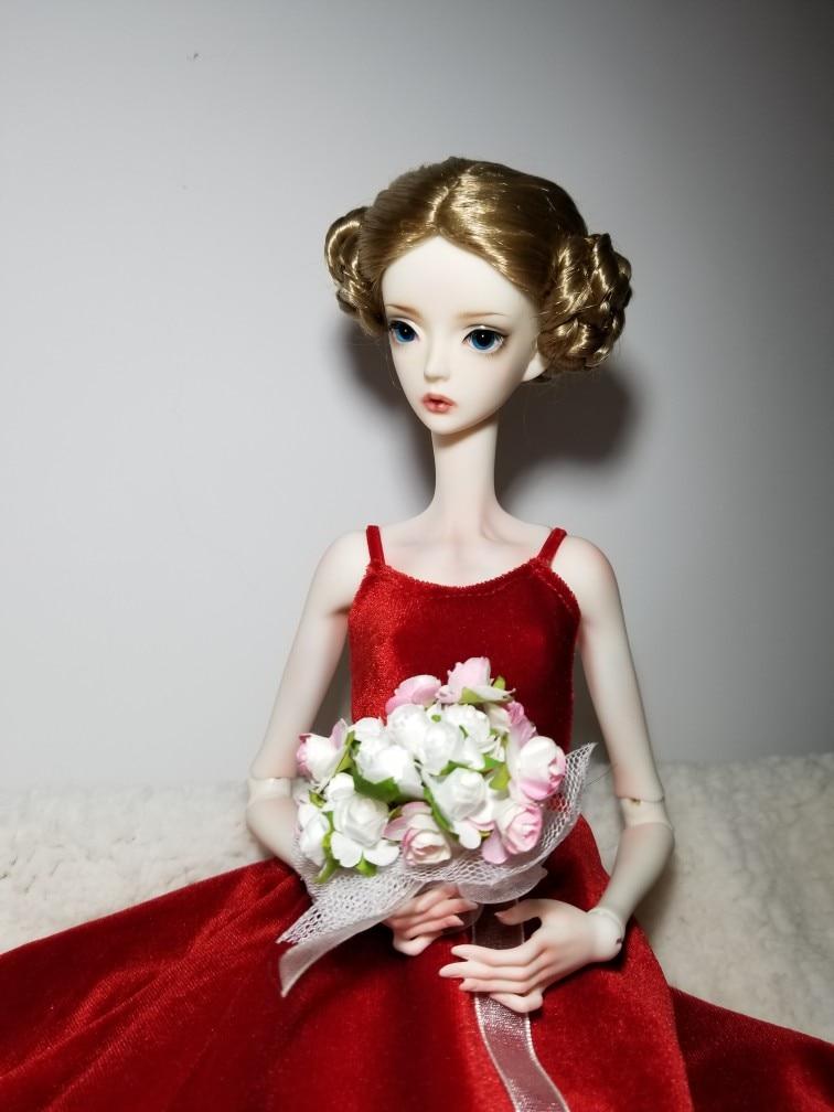 T02-X511 Blyth st vestiti per le Bambole 1/3 1/4 bjd 1/6 bambole Accessori cinghia di Velluto del vestito delle donne 1 pzT02-X511 Blyth st vestiti per le Bambole 1/3 1/4 bjd 1/6 bambole Accessori cinghia di Velluto del vestito delle donne 1 pz