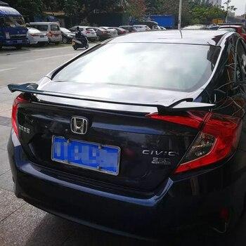 Pour 2016 Honda Civic Spoiler haute qualité ABS matériel voiture aile arrière apprêt couleur aileron arrière pour Honda Civic Spoiler 2016-2018