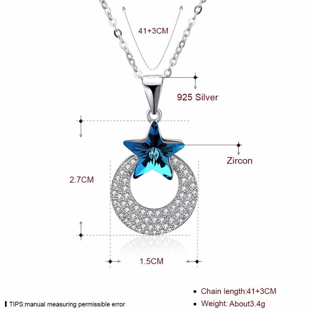 Luna ana corazón colgantes collares hechos con cristal de Swarovski - Joyas - foto 2
