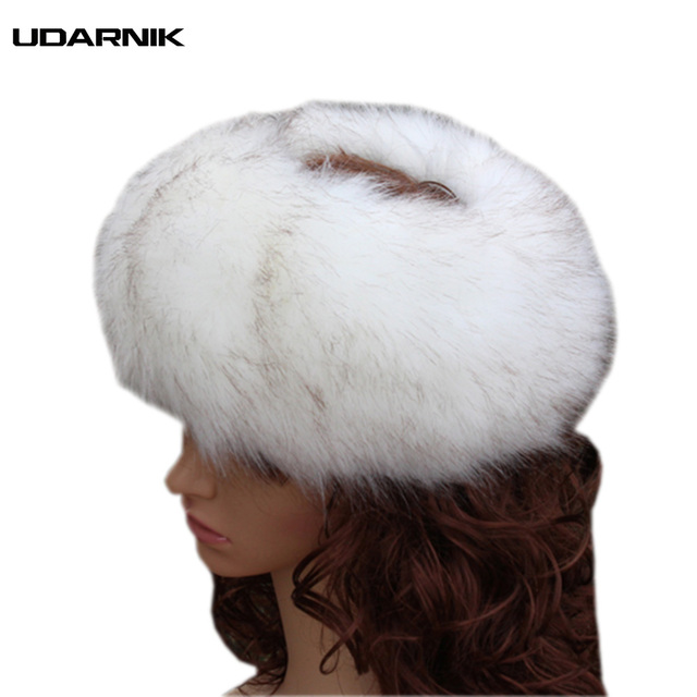 1d37ab20568 Women Faux Fur Mongolian Hat Ushanka Russian Cap Trapper Ski Winter Cossack  Warm Caps Fluffy Furry Luxury Bomber 906-721