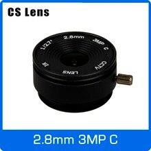3 Megapixel 2.8 millimetri Cs Fisso 1/2. 7 pollici 140 Wide Angle Lens CCTV Per HD 1080 P AHD Telecamera ip Box Macchina Fotografica di Trasporto Libero