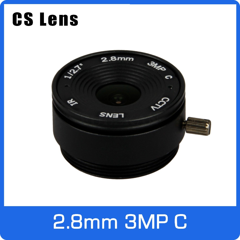 3Megapixel 2.8mm CS Mount Fixed 1/2.7 Inch 140 Wide Angle CCTV Lens For HD 1080P AHD IP Camera Box Camera Free Shipping