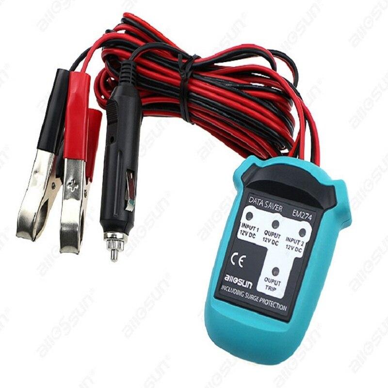 All sun EM274 Vehicle Computer Clock Memory Saver Automotive Memory Saver Car Settings Keeper Diagnostic Data