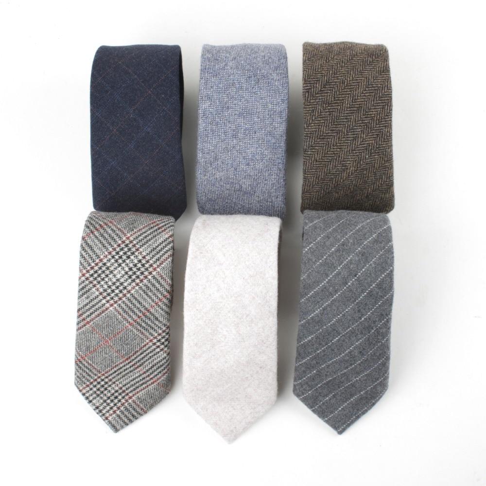 TagerWilen Good Quality Wool Neck Ties For Men 7cm Skinny Striped Necktie Narrow Black Gravata Party Wedding Business T-205