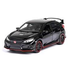 (Boxed) Jianyuan Civic car model decoration ornaments tide product simulation alloy pull back
