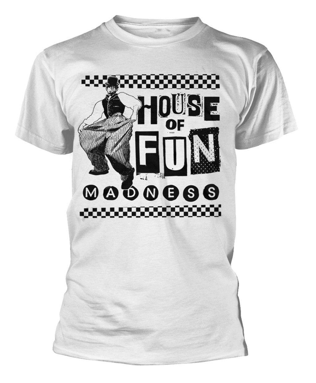 Madness Baggy Haus Der SpaT-Shirt - NEU UND OFFIZIELL Hip Hop Clothing Cotton Short Sleeve T Shirt Top Tee O-Neck T Shirt