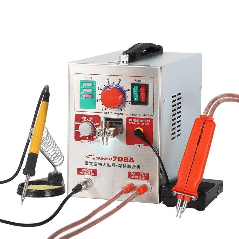 SUNKKO 709A macchina di saldatura a punti 1.9KW pulse spot penna di saldatura con saldatura a punti saldatura a punti 18650 pacco batteria 110V /220 DEGLI STATI UNITI UE